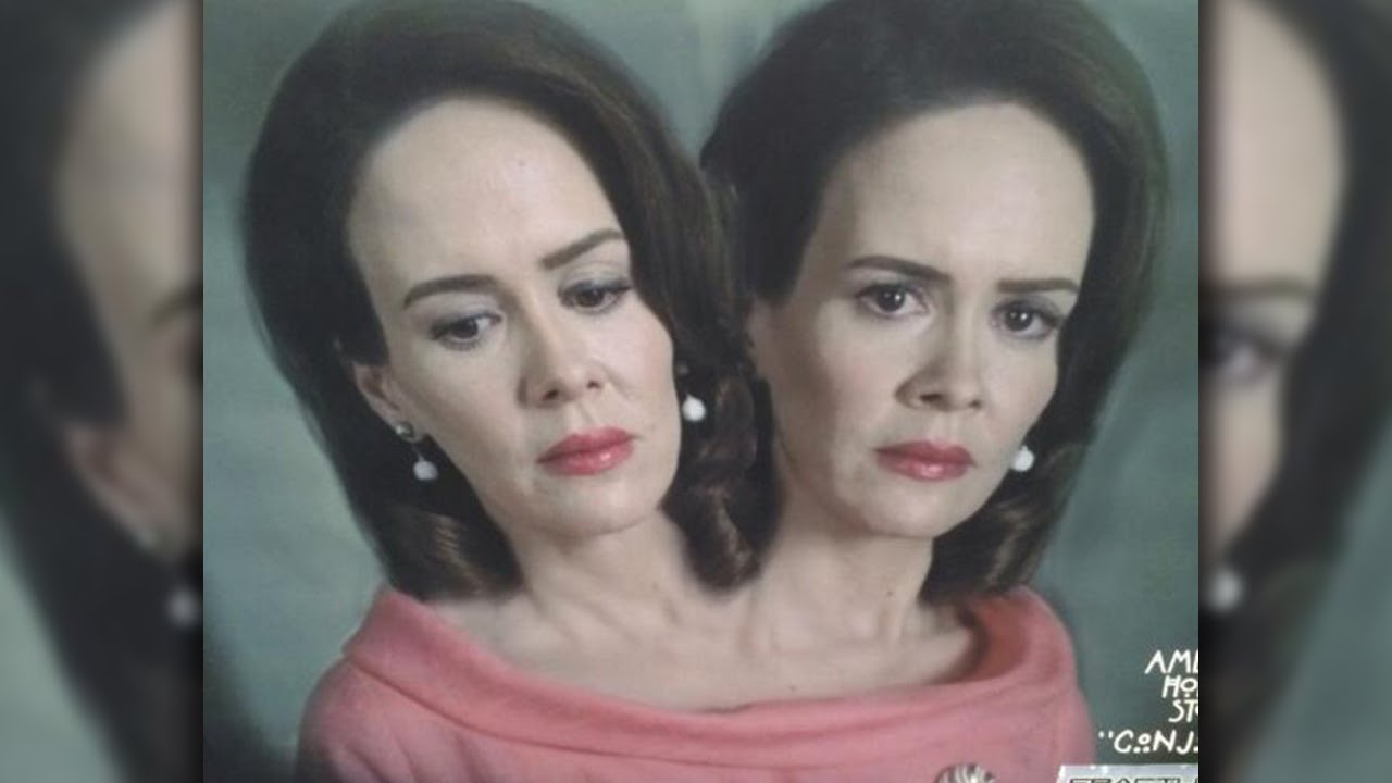 First Look Sarah Paulsons Two Heads For American Horror Story Freak Show