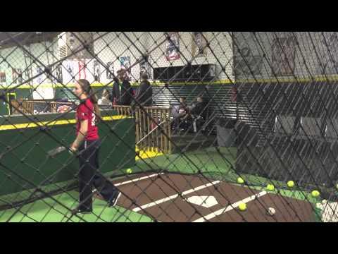 Julia Taylor 2017softball skills video