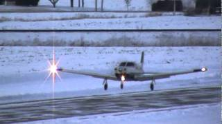 Piper 32R-301T Saratoga II Landing In Winter Conditions CSU3