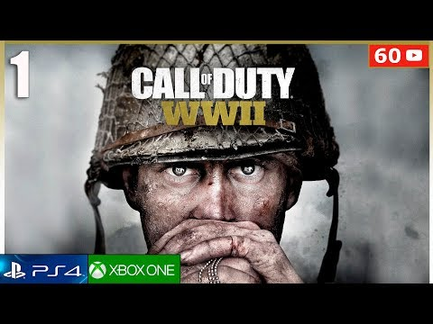 CALL OF DUTY WW2 - Mision 1 Español Gameplay PS4   Campaña Parte 1 (1080p 60fps)