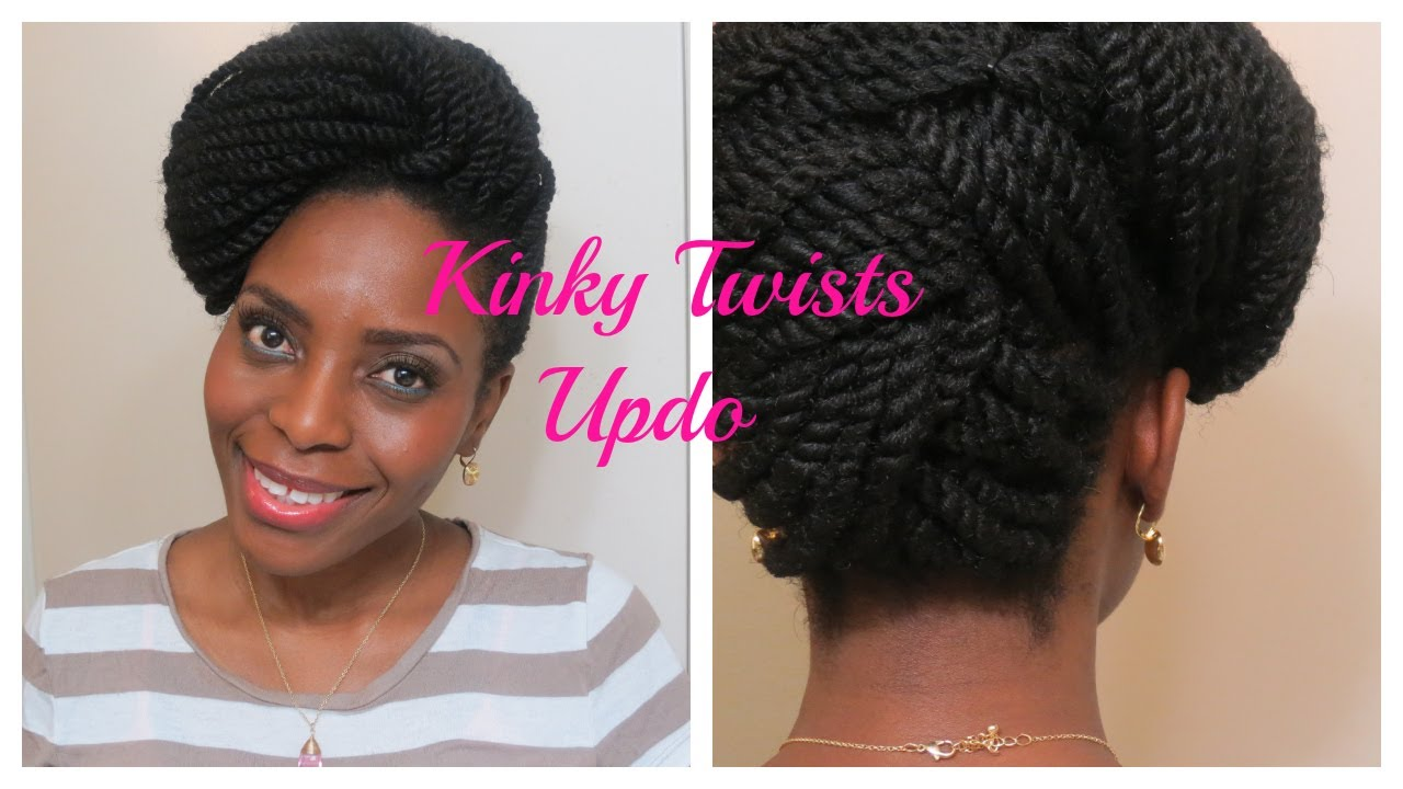 73* Kinky Twists Updo | Natura Hair Style - YouTube