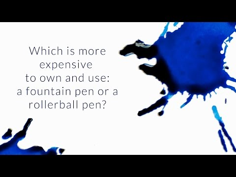 Which Is More Expensive To Own and Use: A Fountain Pen Or A RollerBall Pen? - Q&A Slices