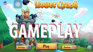 Tower Crush Gameplay iOS / Android Video HD(subscribe : https://goo.gl/CtCwDG Tower Crush is an epic indie game where you build 1 tower, up to 6 floors, load them with weapons, upgrade, evolve and ..., 2016-06-16T13:46:24.000Z)