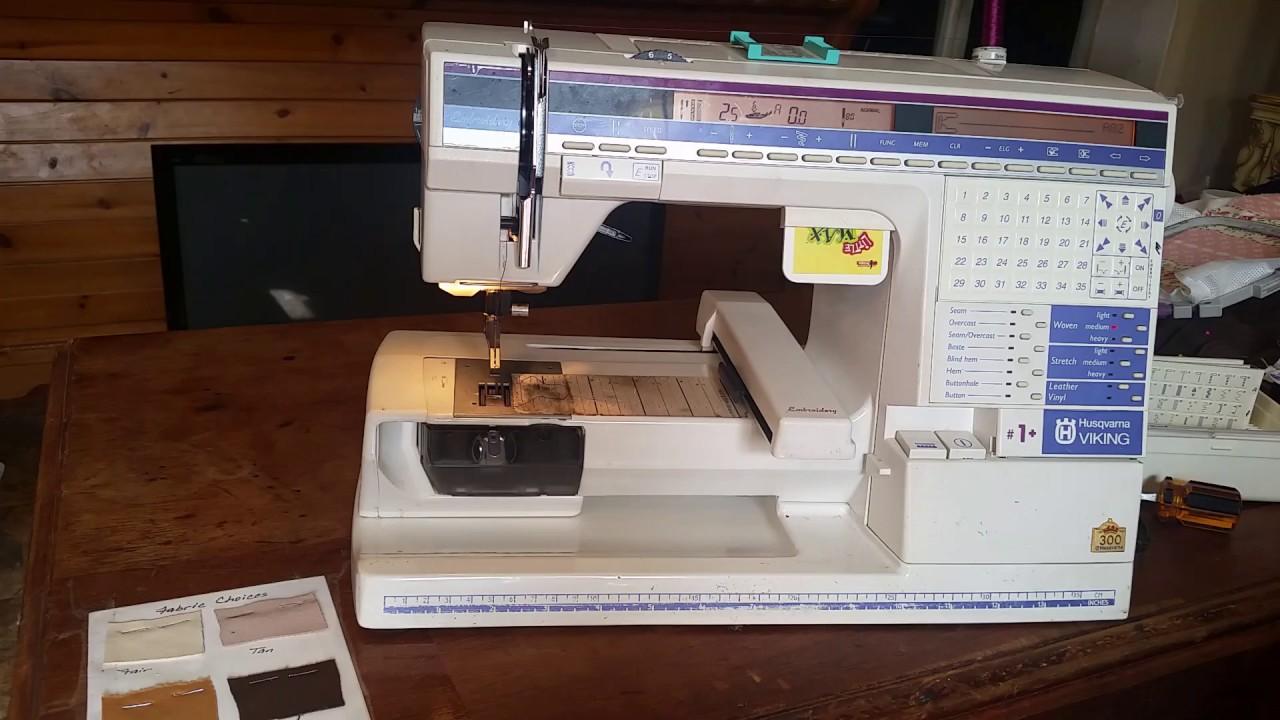 husqvarna viking designer sewing machine with embroidery unit