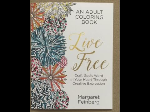 Live Free An Adult Coloring Book Flip Through