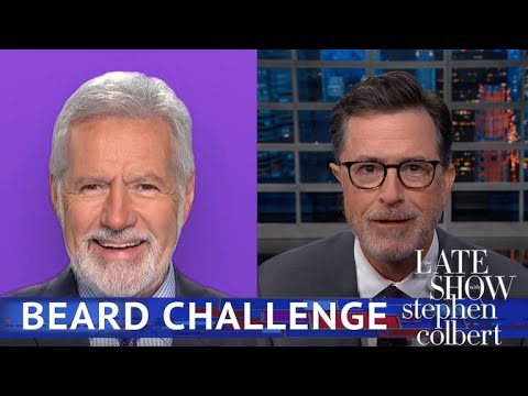 Colbert Challenges 'Jeopardy!' Host Alex Trebek To A Trivia Face-Off
