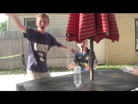 Water Bottle Flip Trick Shot: 3 Cap Flips In A Row! | That's Amazing