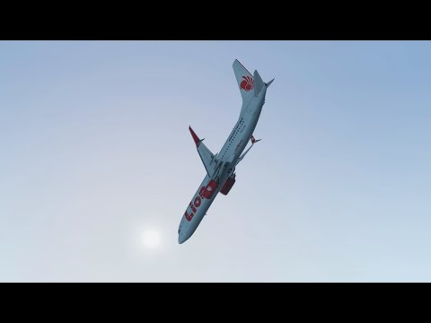 Lion Air Flight 610 - Crash Animation [X-Plane 11]