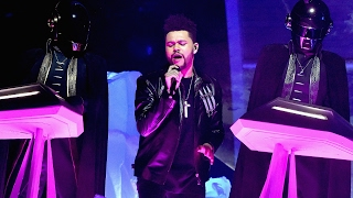 The Weeknd Daft Punk Perform Starboy I Feel It Coming Mashup At 2017 Grammy Awards
