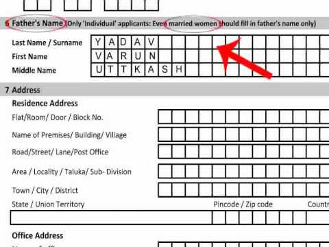 Pan Card Application Form 49b Pdf
