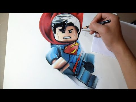 Dessin superman lego r aliste youtube - Superman dessin ...
