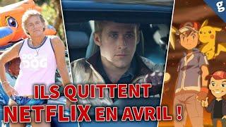 Ces SÉRIES et FILMS quittent NETFLIX en AVRIL !