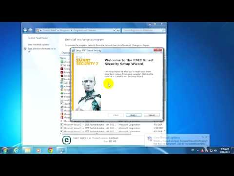 ESET Smart Security Repair (Firewall not working, Proxy)