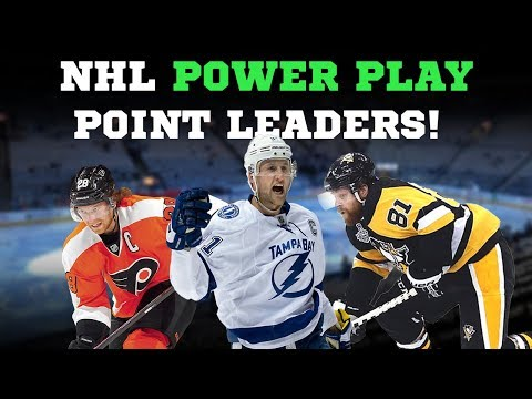 NHL Power Play Point Leaders 2018!