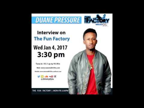 DUANE PRESSURE LIVE WITH JIMMY Q ON FUN FACTORY