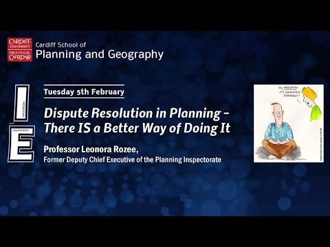 Dispute Resolution in Planning - There IS a Better Way of Doing it - Leonora Rozee
