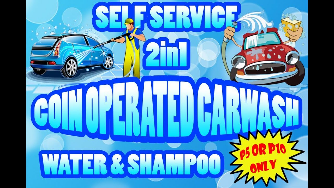 Self Service Coin Operated Carwash 2n1 - shampoo and water
