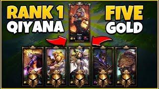 1 PRO QIYANA VS. 5 GOLD PLAYERS (1v5) 39+ KILLS MADNESS QIYANA GAMEPLAY - League of Legends