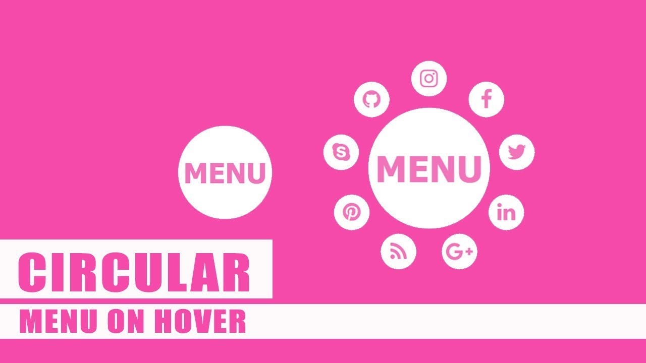 Navbar Design: Circular Navbar Menu Using HTML And CSS 3