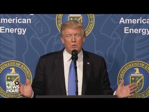 President Trump speaks at the Dept. of Energy