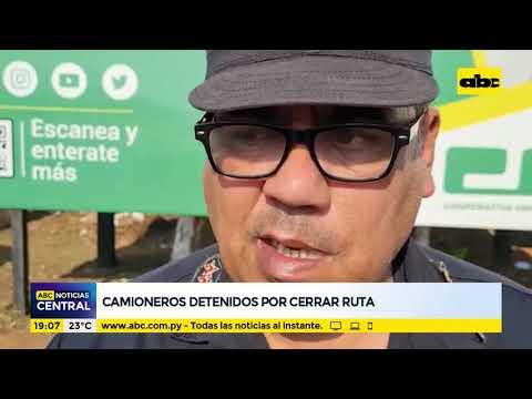 Villarrica: Camioneros detenidos por cerrar ruta