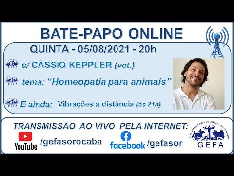 Assista: Bate-papo online - c/ CÁSSIO KEPPLER (05/08/2021)