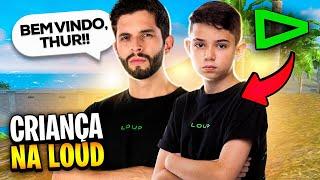 PRIMEIRA RANQUEADA COM A NOVA CRIANÇA DA LOUD!! THURZIN FREE FIRE