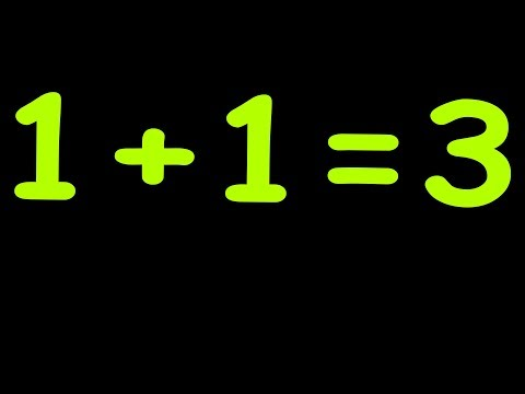 Prove that 1+1=3  || How To Proof 1+1=3  ||  Proof that 1 = 2  ||  math puzzle