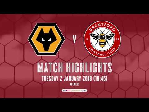 2017/18 HIGHLIGHTS: Wolverhampton Wanderers 3-0 Brentford