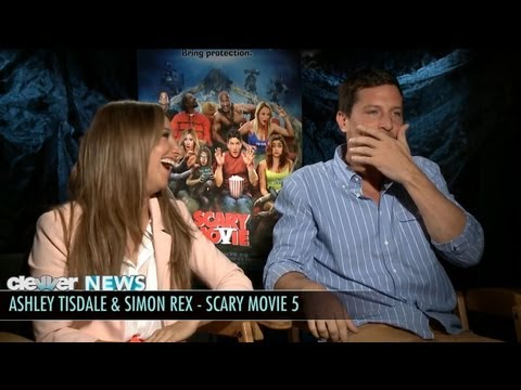 Ashley Tisdale and Simon Rex  Scary Movie 5 s!