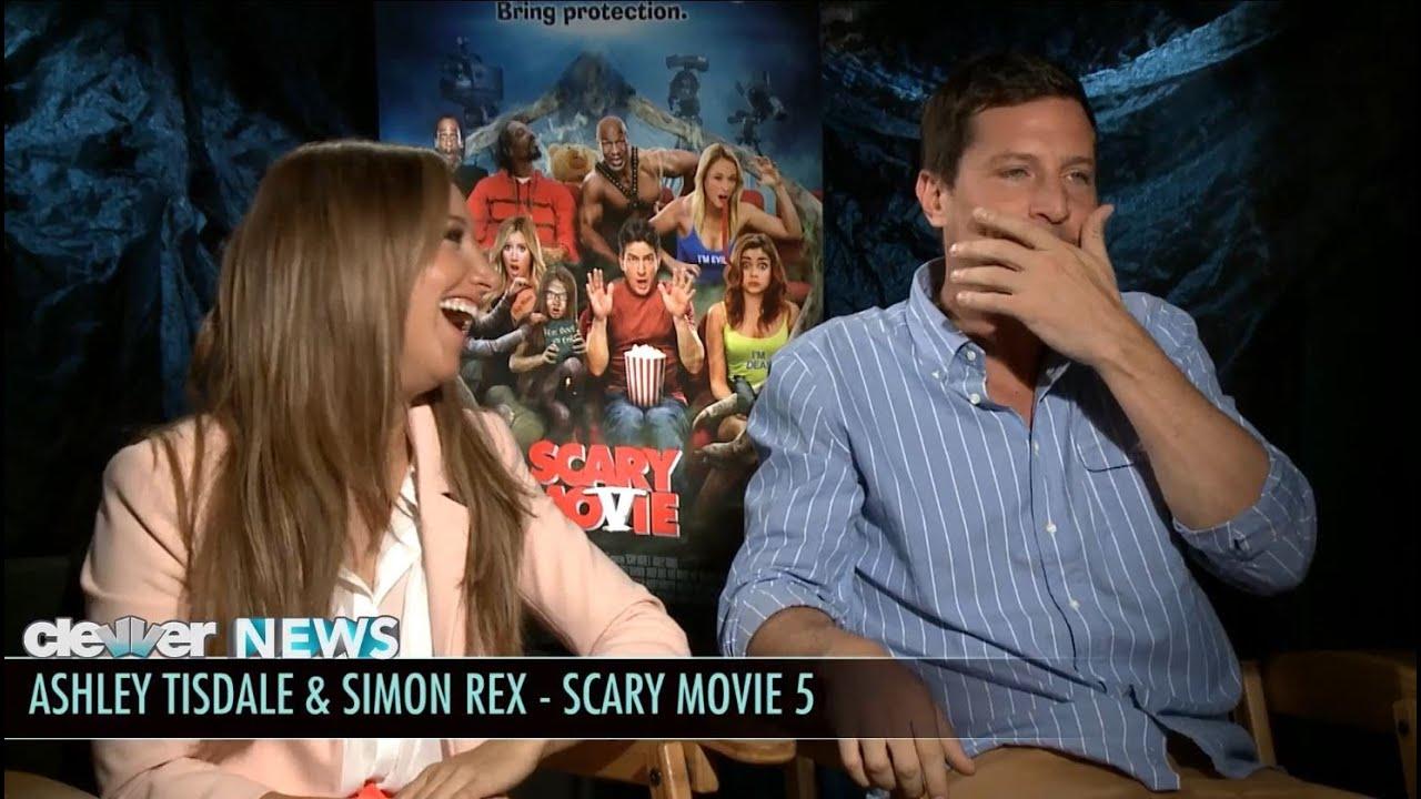 Ashley Tisdale And Simon Rex Scary Movie 5 Interviews Youtube