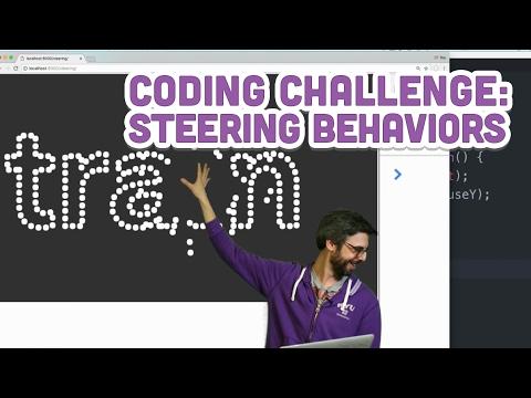 Coding Challenge #59: Steering Behaviors