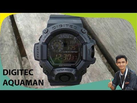 Unboxing jam tangan digitec aquaman DG 2064T (beli di shopee)
