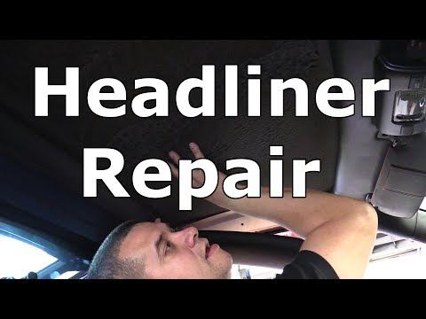 Headliner repair on a Ferrari F430