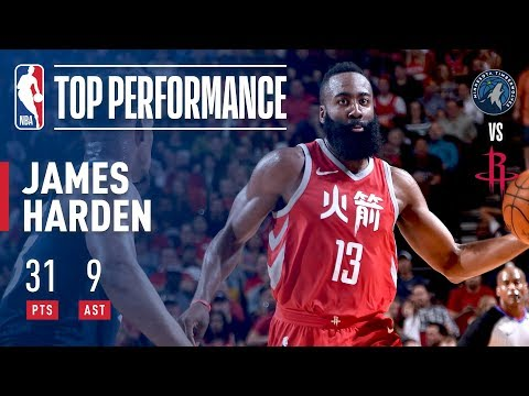 James Harden Rallies Rockets Over the T-Wolves With 31 and 9 | February 23, 2018