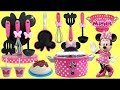 MINNIE MOUSE Spaghetti & Meatballs Cooking Utensil Play Set for Kids