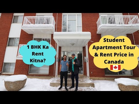 Canadian Houses| Inside a $900 Per Month Apartment Tour| International Student in Canada| Life in 🇨🇦