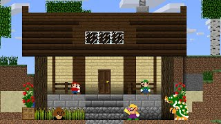 Mario vs Minecraft: The Home Building Challenge