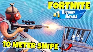 FULASTE SKINNET I FORTNITE *HEAVY SNIPE PÅ 10 METER* TRAP-KILL