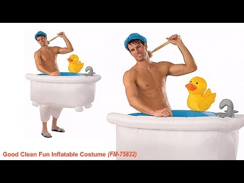 Awesome WALKING BATHTUB // Inflatable Costume
