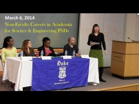 3/6/2014 Non-Faculty Careers in Academia for Science & Engineering PhDs