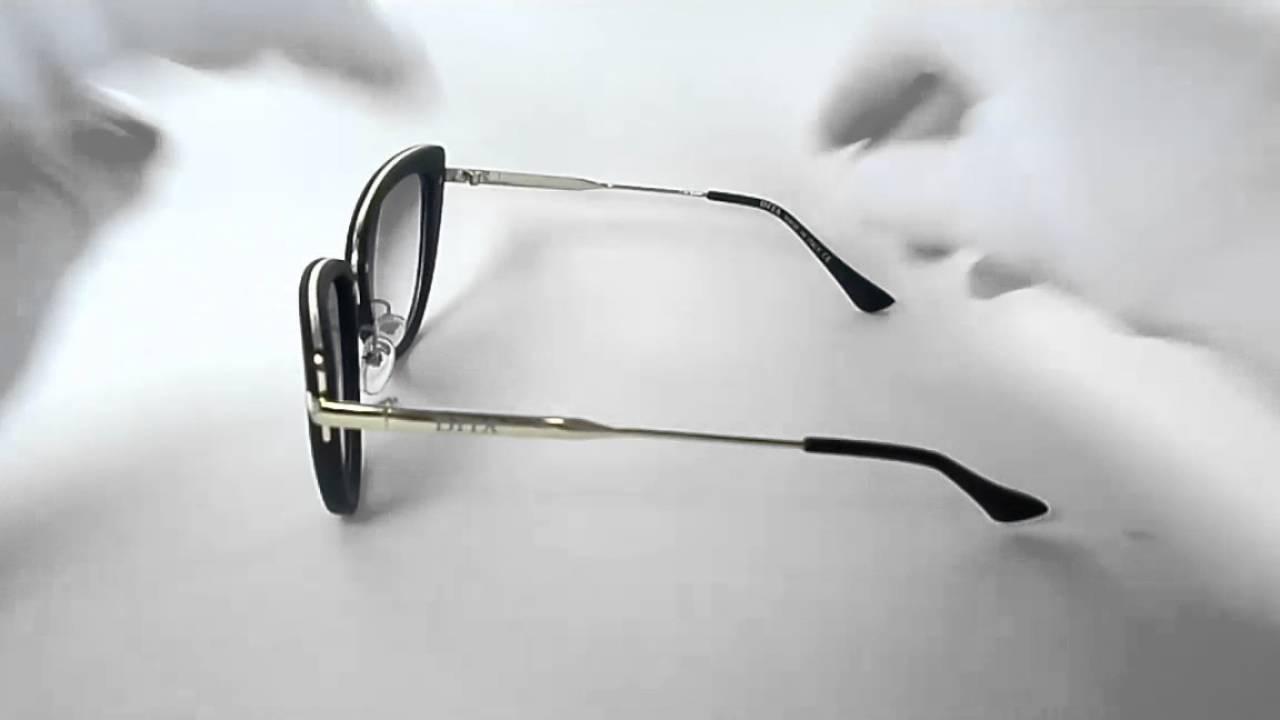 047ed364afd Dita Heartbreaker Black   Gold Cat Eye Sunglasses Sol0161 - YouTube