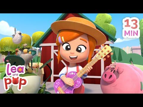 old-macdonald-had-a-farm-+-more-educational-kids-songs- -lea-and-pop