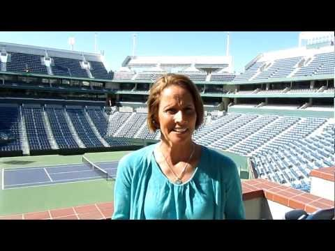 Mary Carillo visits the Indian Wells Tennis Garden - Home of the BNP Paribas Open