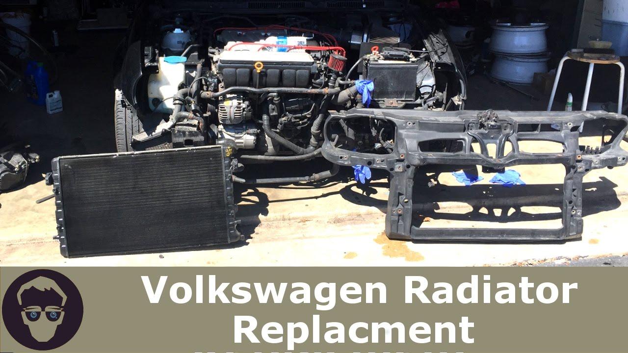Volkswagon Radiator Replacement!! BumperHeadlightFront