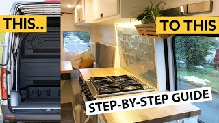 How To Convert a Van into a Chic Home - Full Self-build Sprinter Conversion 🛠