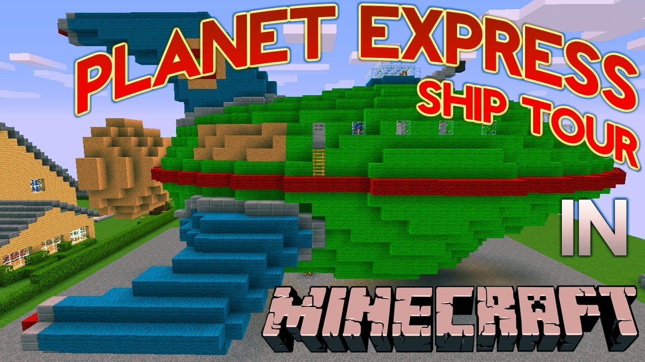 Minecraft: Planet Express Ship Tour - YouTube  Minecraft: Plan...