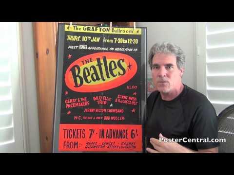 Beatles Grafton Ballroom Concert Poster 1963 Merseyside, U.K.