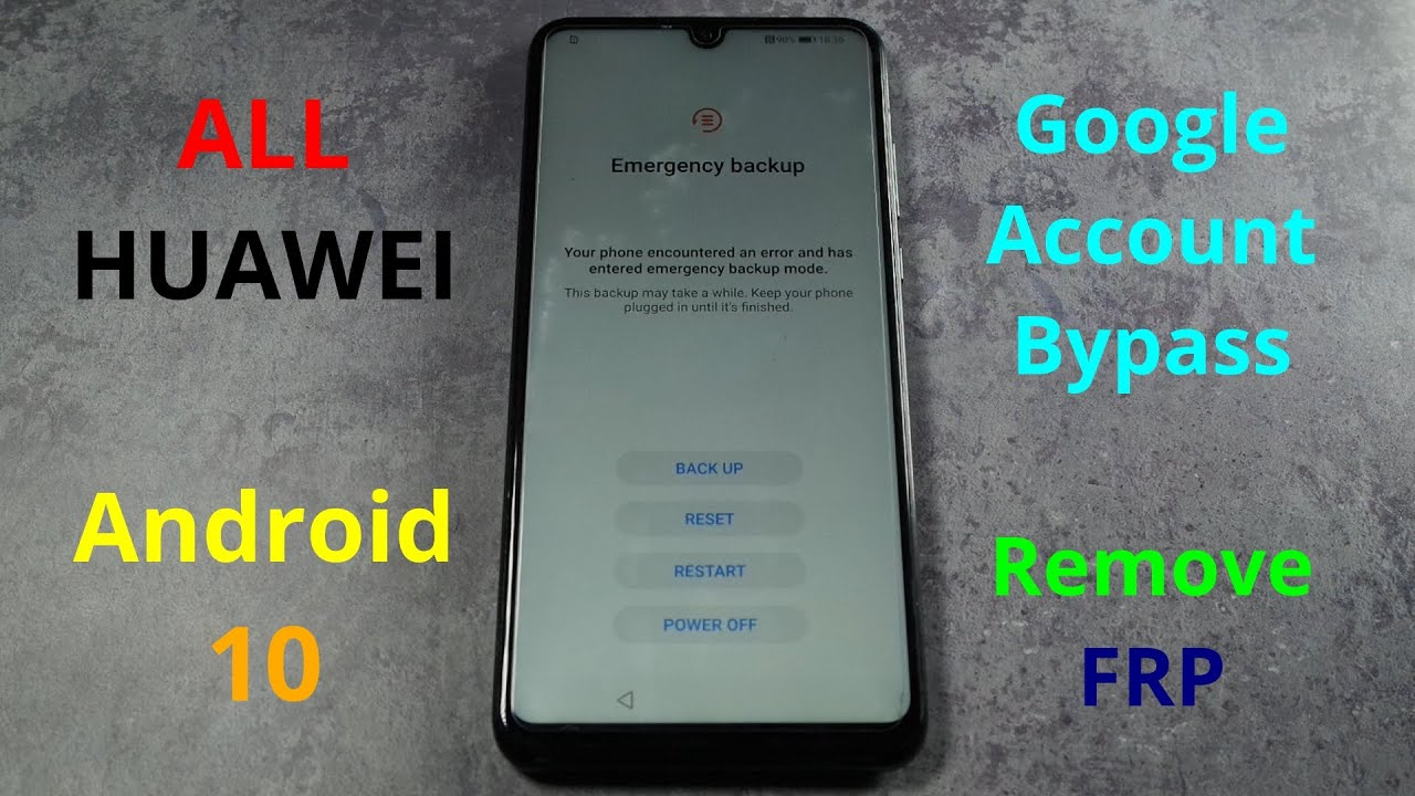 All Huawei Phones with EMUI 10 and Android 10 (2021) - Google Account Bypass / Reset FRP