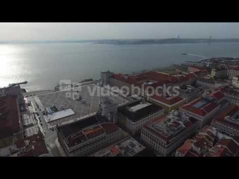 aerial view of commerce square praca do comercio in lisbon portugal nq0qjhiwx